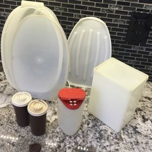 Vintage Tupperware bundle salt pepper chicken